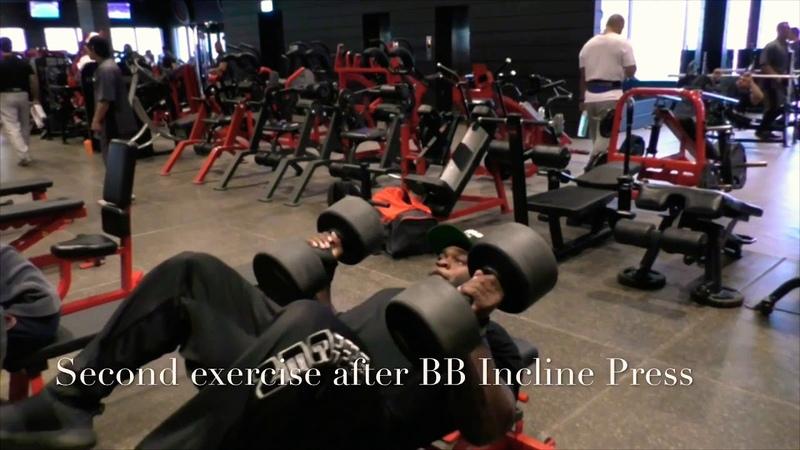 Brandon Curry Trains Chest Biceps