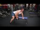 Упражнения для спины Тяга гантели в наклоне