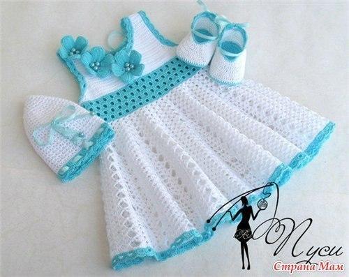 Платье от Пуси для девочки. Подборка схем…. (8 фото) - картинка