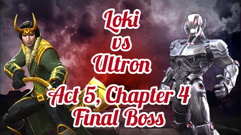 Локи 4* против Альтрона, 5 акт, 5.4.6 | Loki vs Ultron, Chapter 5 | Marvel Contest of Champions
