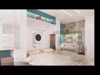 Квартира-студия для семьи с ребенком