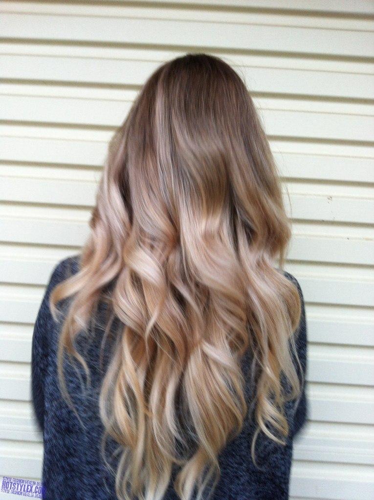 Стильное калифорнийское мелирование на русые волосы: фото подборка.