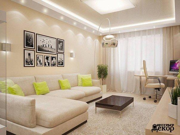Светлая гостиная (1 фото) - картинка