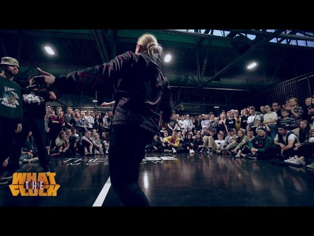 What The Flock vol.4   Hip-Hop 2x2 1/8 final - L'eto Irina S.N.CH. vs Zencova Ruba