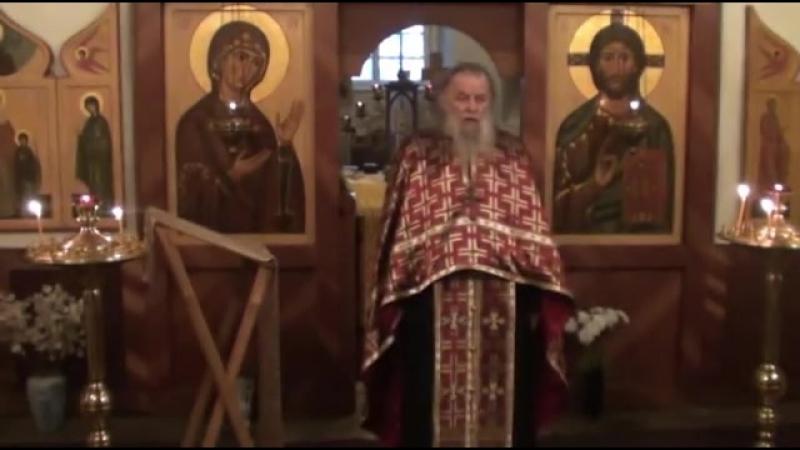 Священник Павел Адельгейм Проповедь на Вечерне в храме свв Жён мироносиц Псков 5 3 2013