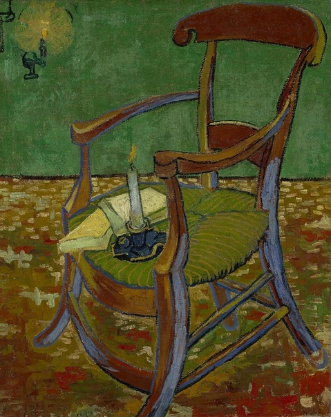 одного шедевра. «Кресло Гогена» и «Стул Гогена». Винсент Ван Гог «Кресло Гогена»1888г. Холст, масло. Размер: 90,5 Х 72,5 см. Музей Ван Гога, Амстердам.«Стул Гогена» 1888г. Холст, масло. Размер: