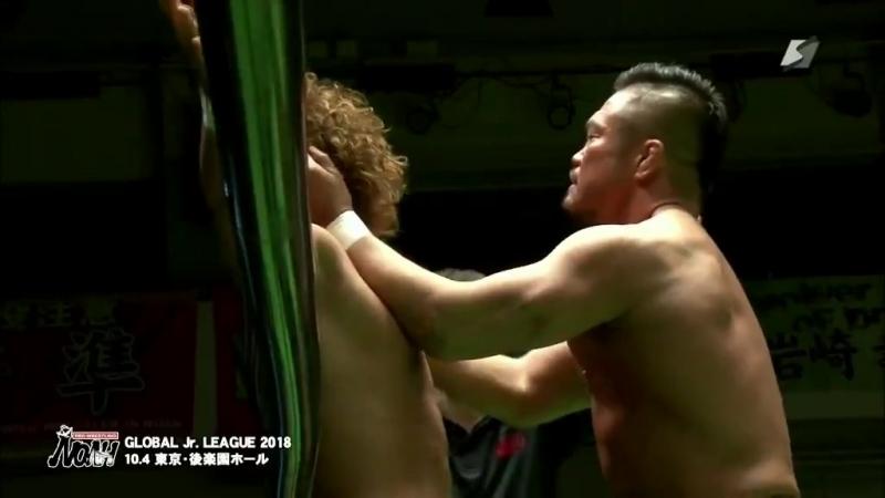 Takashi Sugiura (c) vs. Katsuhiko Nakajima - NOAH Global Junior League 2018 - Tag 10