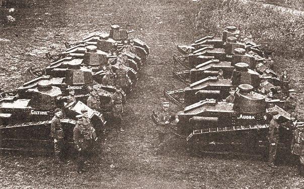 Литовские танки вошли в Вильно в 1939 году.