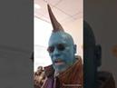 Michael Rooker goes full Yondu at Marvel Studios Office
