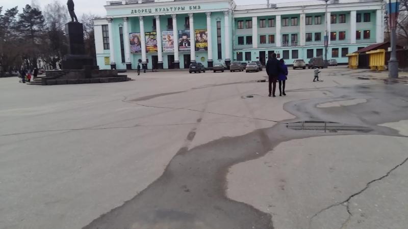 Площадь ДК БМЗ въезд под кирпич