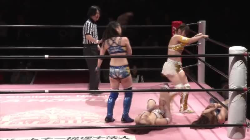 Natsumi Maki Hikari Noa vs. Yuki Kamifuki Mina Shirakawa