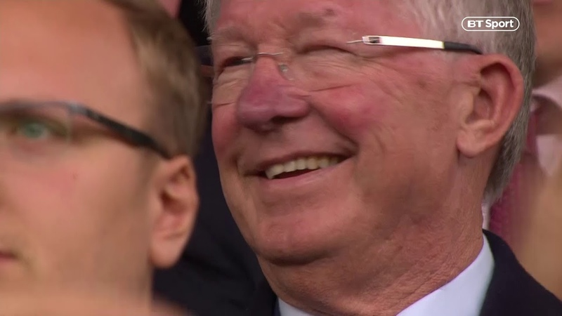 Sir Alex Ferguson is BACK at Old Trafford! He gets a huge reception on his return to Man Utd