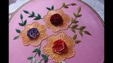 Hand embroidery Designs Cast on flower design