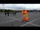 Мишка танцует на Дне города Златоуст