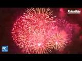 Фейерверк в Нью-Йорке по случаю Китайского Нового года