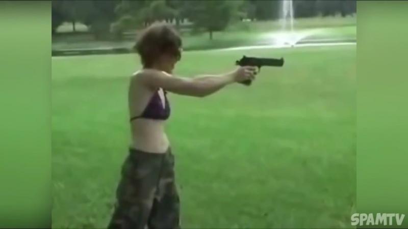 Оружие купил , а вот мозги не купил. Видео урок как не надо стрелять .