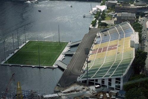 На воде, в скале, с видом на океан: ТОП-9 самых необычных стадионов мира (ФОТО)
