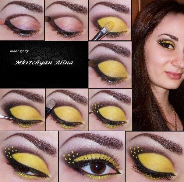 Как сделать глаза жёлтыми 443