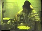830313 H.H.Shri Mataji Nirmala Devi cooking for the Sahaja yogis in Melbourne ashram, Australia