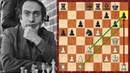 Шахматы Михаил Таль каскадом жертв разносит защиту Каро Канн в пух и прах