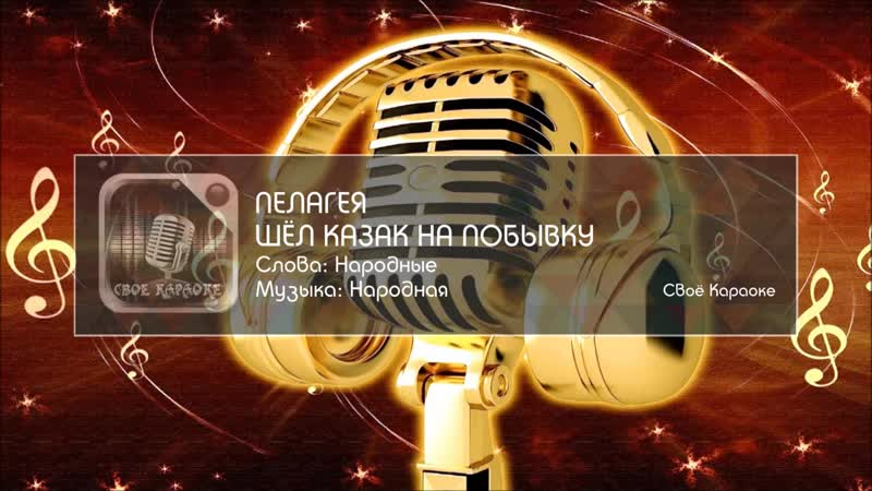 Пелагея - Шёл казак на побывку (Мелодия)