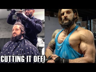 FILMING THE NEW GYMSHARK SERIES - TRAINING & DIET UPDATE - Cutting My Hair & Beard Style