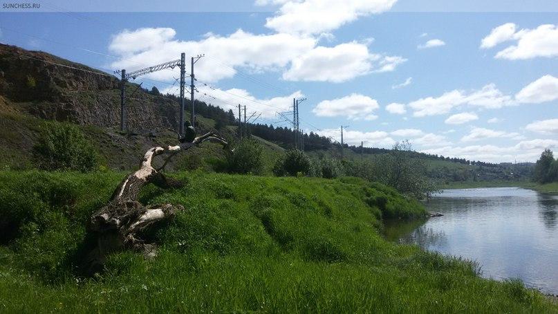 Усть-Катав. Вид с места привала на речке Юрюзань