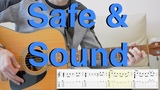 Capital Cities - Safe &amp Sound (fingerstyle, acoustic guitar, tabs)