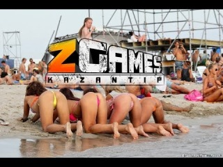 Казантип 2013 девушки веселятся на пляже