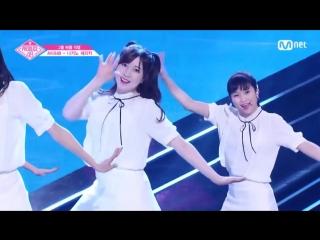 PRODUCE 48 1:1 eye contact | Нагано Сэрика (AKB48) - Gfriend Love Whisper Team 1 group battle