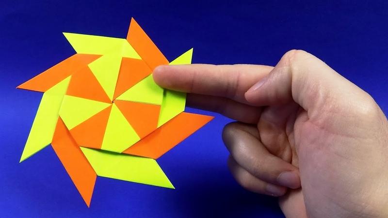 Как сделать сюрикен из бумаги. Оригами сюрикен трасформер. How To Make a Paper Ninja Star (Shuriken)