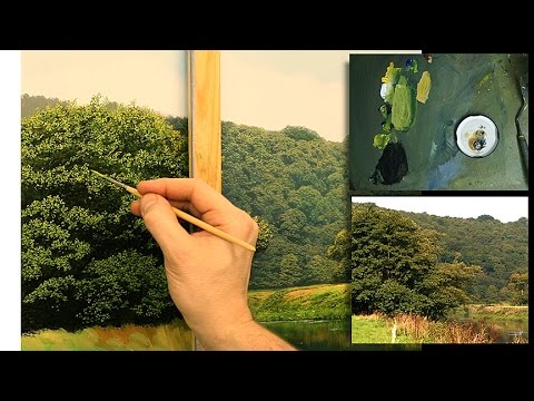 How To Paint Trees In Oil | Oil Painting Tutorial