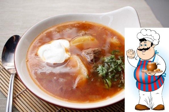 Суп из говядины с тмином