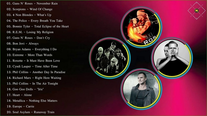 Рок Баллады 80-х 90-х годов   Лучшие хиты рок-баллад