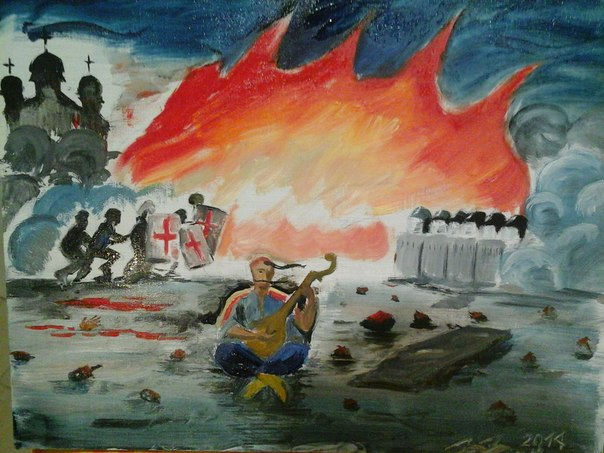 Запорожские казаки выехали на Майдан защищать Украину - Цензор.НЕТ 197