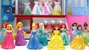 Princesses Magiclip Wedding Dress Up Disney Claw Machine Dolls Frozen Elsa Tiana Aurora Rapunzel