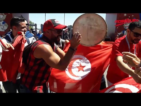 Les supporters tunisiens fêtent le mondial dans les rues de Volgograd