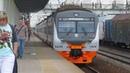 ЭД4М-0474 ЦППК, электровоз ЧС7-036 с поездом №132Б Брест - Москва станция Кубинка-1 2.07.2018