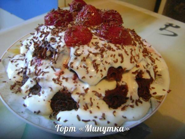 Торт «Минутка»  Этот торт – кулинарный шедевр! Вкусный и главное лёгкий в приготовлении!   Для тортика нам понадобится:  -Яйцо куриное - 1 шт.;  -Молоко - 5 ст.л.;  Пoкaзaть пoлнoстью...