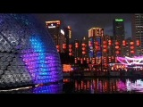 Giant lantern made from plastic bottles in Hong Kong - no comment