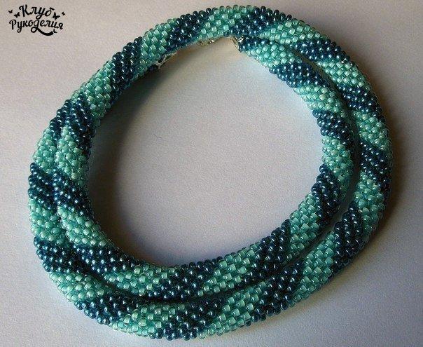 Вязание крючком: бисерный жгут (8 фото) - картинка