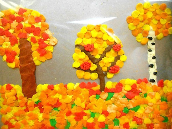 Поделка из пластилина на тему осень