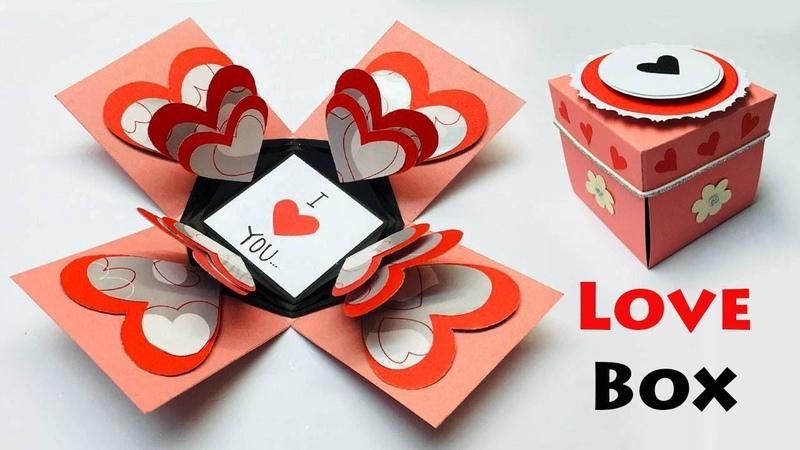Love Box Card   Greeting Cards Latest Design Handmade   I Love You Card Ideas 2019