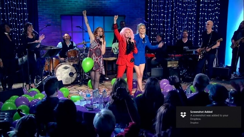Cyndi Lauper, Ingrid Michaelson and Kelsea Ballerini with Girls Just Want To Have Fun