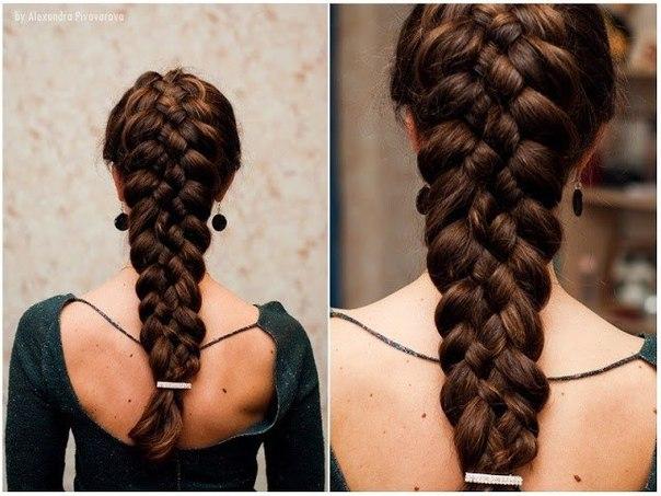 Французская коса с бантиками по диагонали , ЭТО нечто ! Инструкция прически пошагово :