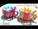 Xícaras de Tecido para guardar chás