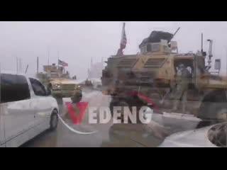 Ещё одно видео, в котором очевидец рассказывает, что именно американский патруль не дал российскому проехать [наемники   militar