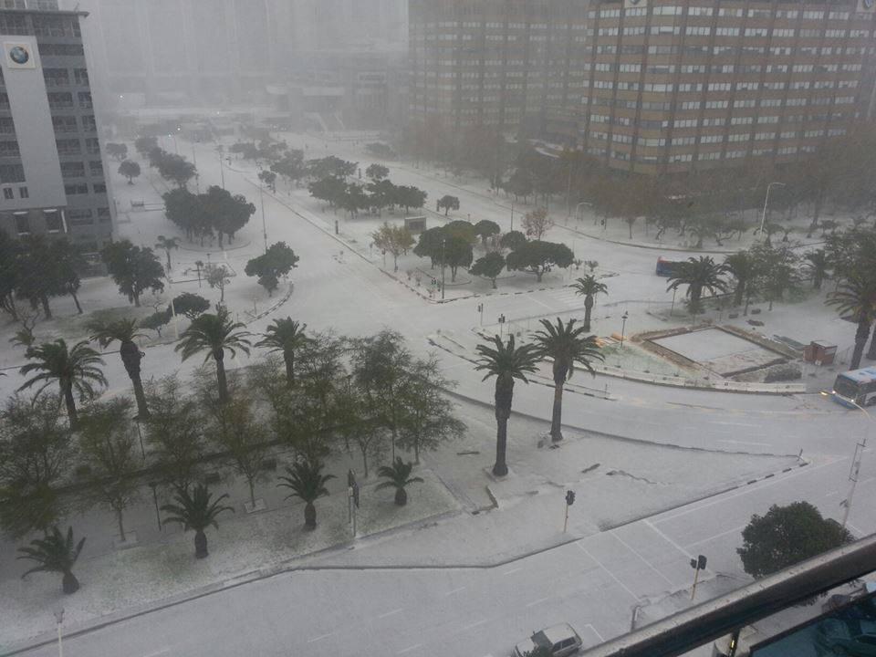 Июнь 2013 Снегопад в Кейптауне ЮАР