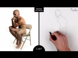 Proko Figure drawing fundamentals - 01 Gesture - Gesture Quicksketch - 2 Minute Pose (9)