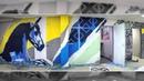Граффити в офисе ТКС Банка на Хуторской